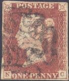 1841 1d Red SG7 Plate 8 'NC'