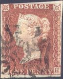 1841 1d Red SG8 Plate 24 'GH'(2)