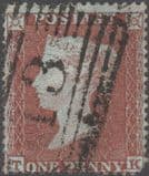 1854 1d Red SG17 Plate 201 'TK'