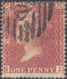 1855 1d Red SG21 Plate 12 'BL'