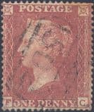1855 1d Red SG21 Plate 12 'FC'
