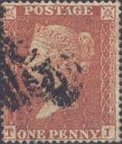 1855 1d Red SG21 Plate 4 'TI'
