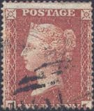 1855 1d Red SG21 Plate 4 'TJ'
