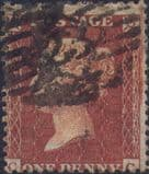 1855 1d Red SG24 Plate 12 'CC'