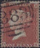 1855 1d Red SG24 Plate 12 'OH'(1)
