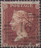 1855 1d Red SG24 Plate 12 'TF'