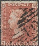 1855 1d Red SG24 Plate 4 'SK'