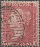 1857 1d Red SG40 Plate 59 'GH'