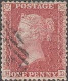 1857 1d Red SG40 Plate 59 'HD'