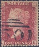 1857 1d Rose-red SG40 Plate 59 'LE'