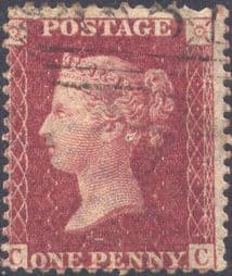 1861 1d Rose-red SG42 Plate 50 'CC'
