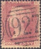 1862 1d Rose-red C13(4) Plate R16 'DC'