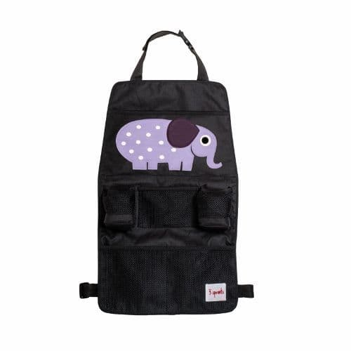 3 Sprouts Backseat Organiser - Elephant Purple
