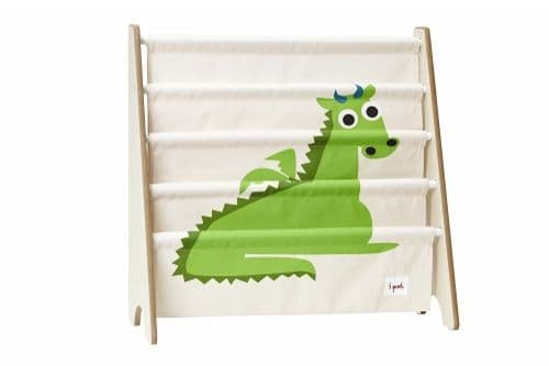 3 Sprouts Book Rack - Dragon Green