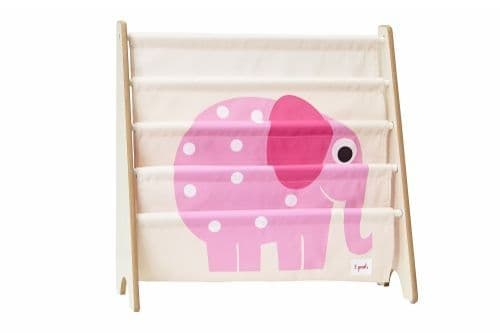 3 Sprouts Book Rack - Elephant Pink