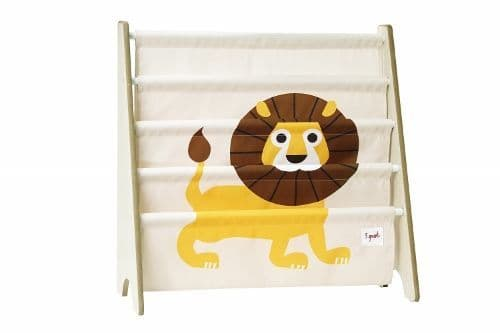 3 Sprouts Book Rack - Lion Yellow