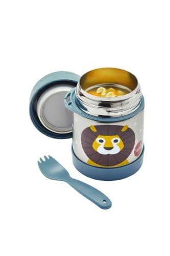 3 Sprouts Food Jar & Spork - Lion