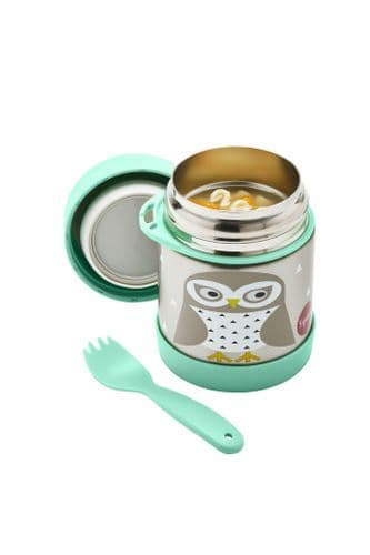 3 Sprouts Food Jar & Spork - Owl
