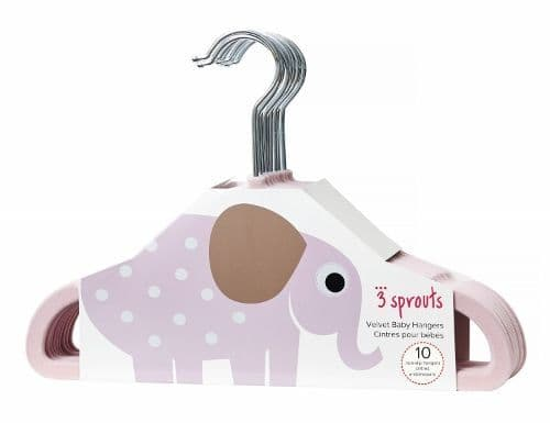 3 Sprouts Hangers - Elephant Pink