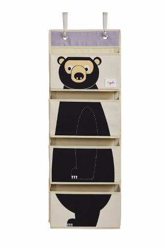 3 Sprouts Hanging Wall Organiser - Bear
