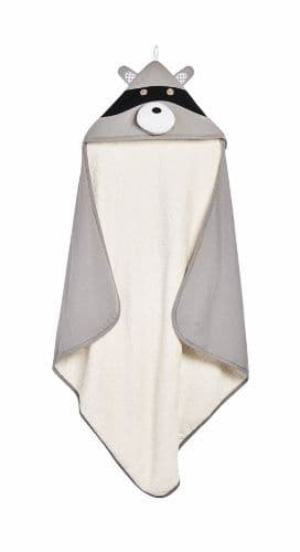 3 Sprouts Hooded Towel - Raccoon Grey