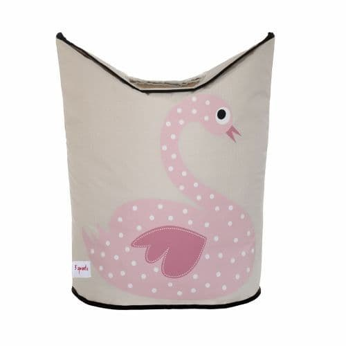 3 Sprouts Laundry Hamper - Swan Pink