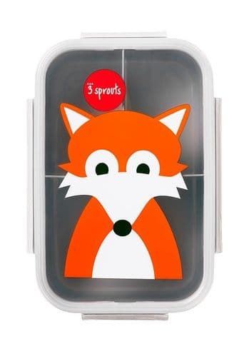 3 Sprouts Lunch (Bento) Box - Fox