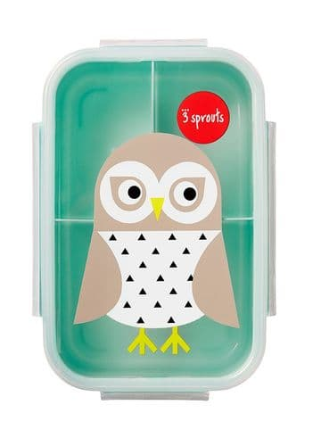 3 Sprouts Lunch (Bento) Box - Owl