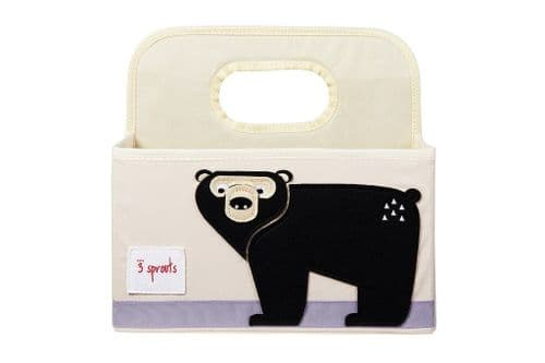 3 Sprouts Nappy Caddy - Bear Black
