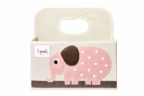 3 Sprouts Nappy Caddy - Elephant Pink