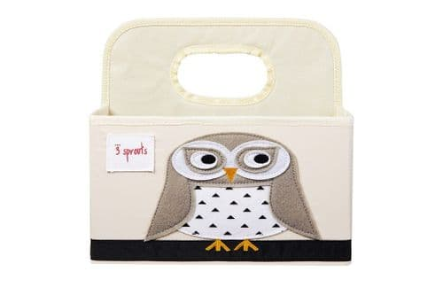 3 Sprouts Nappy Caddy - Owl White