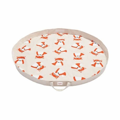 3 Sprouts Play Mat Bag - Fox Orange