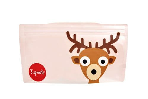 3 Sprouts Reusable Snack Bag - Deer