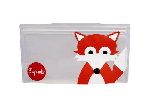 3 Sprouts Reusable Snack Bag - Fox