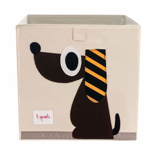 3 Sprouts Storage Box - Dog Brown