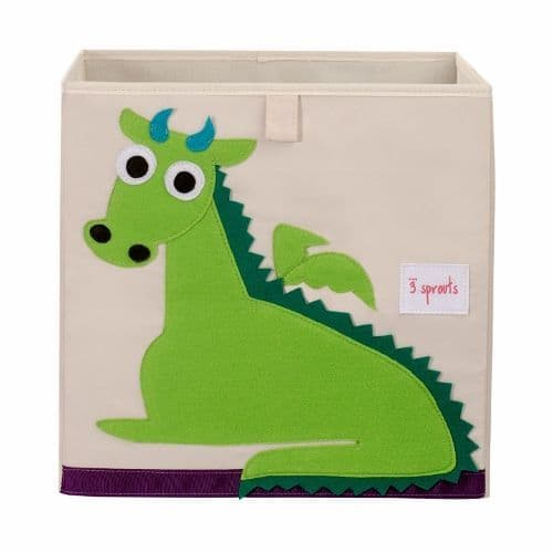 3 Sprouts Storage Box - Dragon Green