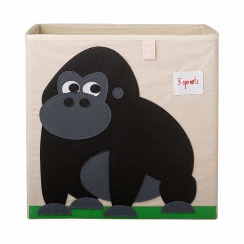 3 Sprouts Storage Box - Gorilla Black
