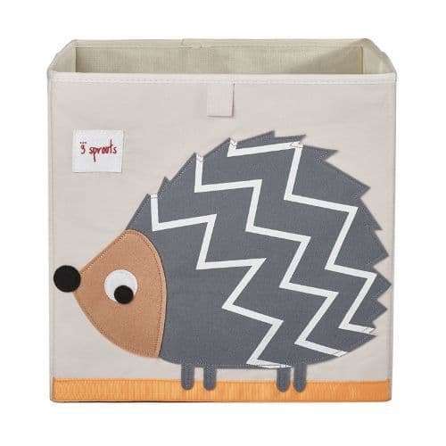 3 Sprouts Storage Box - Hedgehog Grey