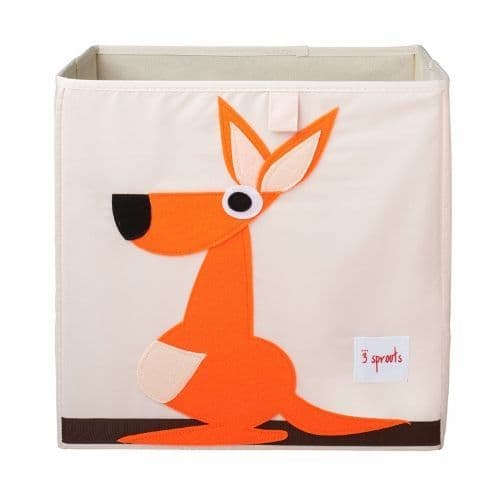 3 Sprouts Storage Box - Kangaroo Orange