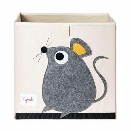3 Sprouts Storage Box - Mouse Grey