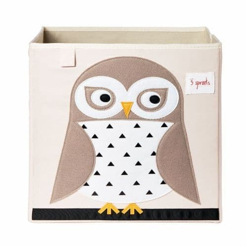 3 Sprouts Storage Box - Owl White