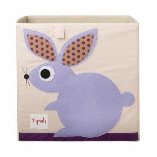 3 Sprouts Storage Box - Rabbit Purple