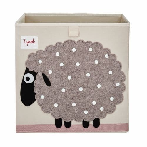 3 Sprouts Storage Box - Sheep Beige