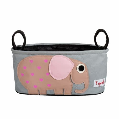 3 Sprouts Stroller Organiser - Elephant Pink
