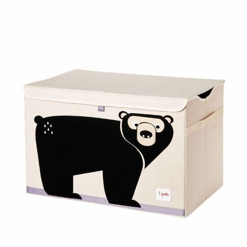 3 Sprouts Toy Chest - Bear Black