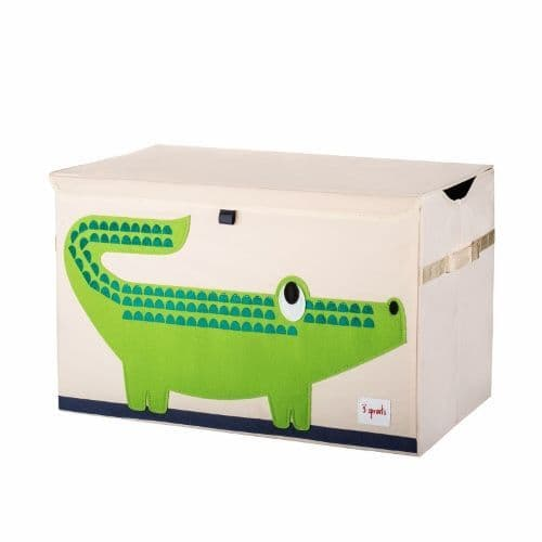 3 Sprouts Toy Chest - Crocodile Green