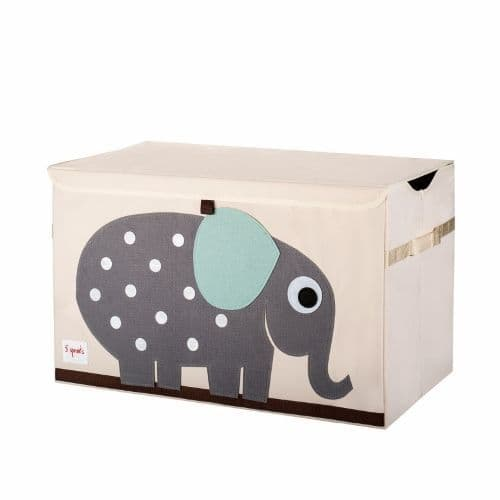 3 Sprouts Toy Chest - Elephant Grey