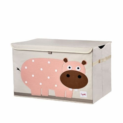 3 Sprouts Toy Chest - Hippo Pink