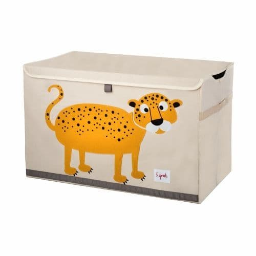 3 Sprouts Toy Chest - Leopard Orange