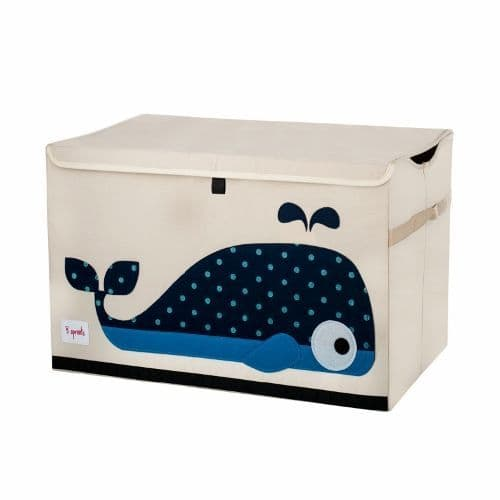 3 Sprouts Toy Chest - Whale Blue